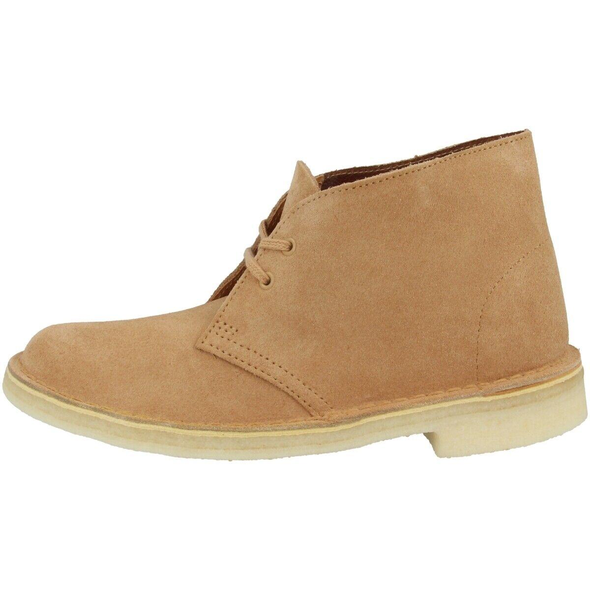 Clarks Desert bota mujer zapatos señora botas botas schnürzapatos tan 26138822