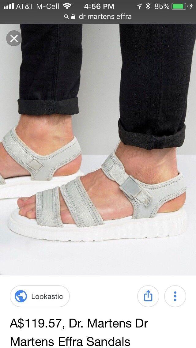 Dr. Martens Effra 7 Sandals Warm Grey/White  Men 7 Effra Women 9 86dff9