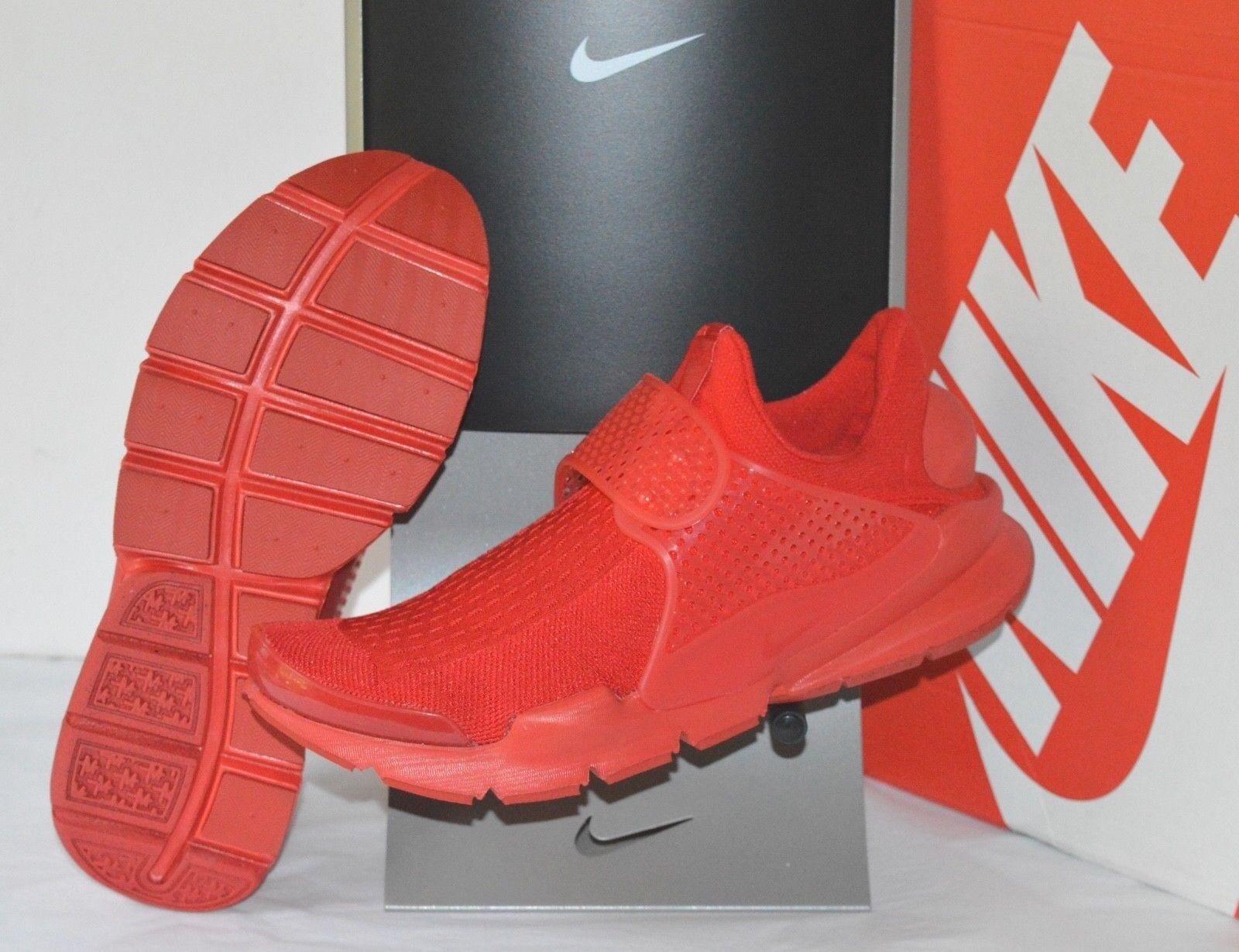New  130 Nike Sock Dart KJCRD University Triple Rosso October Knit sz 10 Running