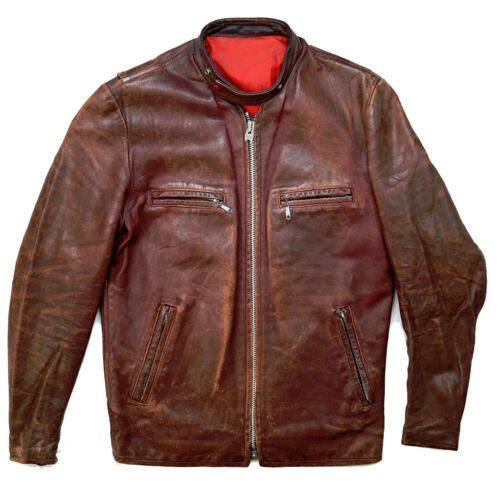 Leather moto moto 40 L motociclista Giacca in Biker Cycle Racer pelle British donna ny0OvmN8w