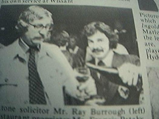 ephemera 1977 kent picture ray burrough francis pataky beaujolais nouveau