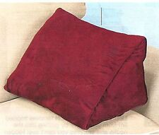 "18"" WEDGE PILLOW WITH REMOVABLE COVER - BURGUNDY"