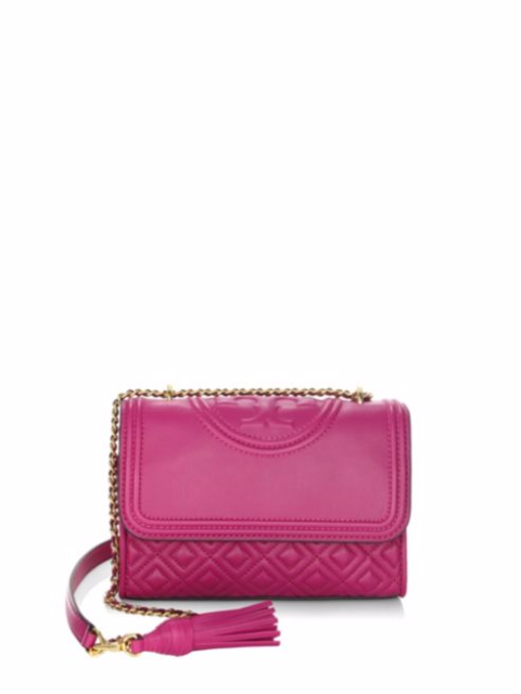 60d51954044a Tory Burch Fleming Small Convertible Shoulder Bag Party Fuchsia for ...