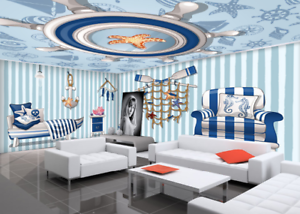 3D bluee  Furnitures 88 Wall Paper Murals Wall Print Wall Wallpaper Mural AU Kyra