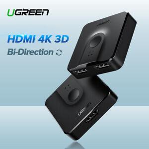 Ugreen-Bidirektional-HDMI-Switch-Splitter-Umschalter-3D-4K-HDCP-fuer-Xbox-HDTV