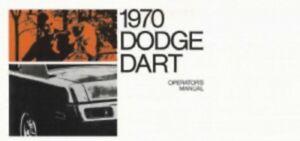 1970 dodge dart owners manual