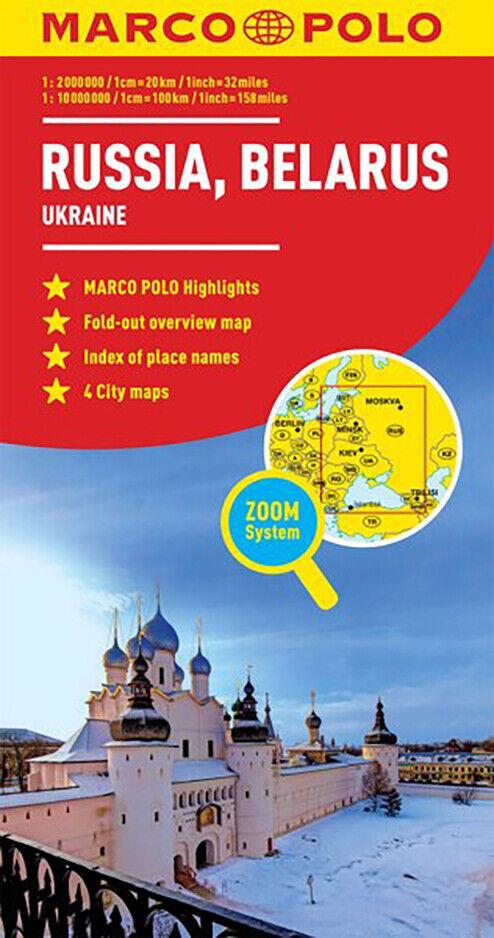 Cartina Geografica Russia Ucraina.Russia Ucraina Cartina Stradale Scala 1 2 000 000 Mappa Carta Marco Polo Ebay