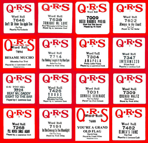 Condition QRS 7000 Series #1 Piano Rolls Buy-It-Now EXC Select One Or All
