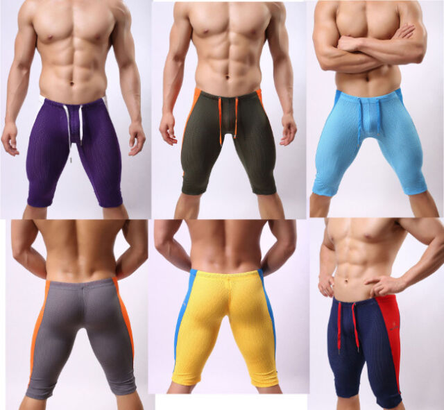 Men's Home Pants Beach Sports Jogger Casual Mesh Sportswear Gym Shorts Shorts