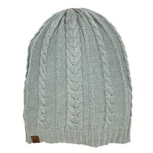 be7a37dea Details about Timberland Women's Cable Gray Lightweight Slouchy Beanie A1E6X