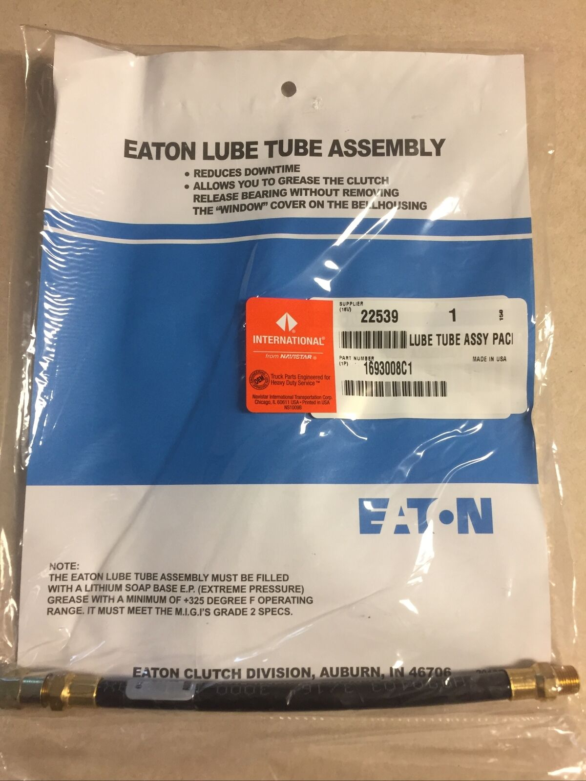 NEW Eaton Automotive Lube Tube Assembly
