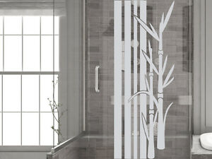 glasdekor folie fensterdekor f r badezimmer bambus. Black Bedroom Furniture Sets. Home Design Ideas