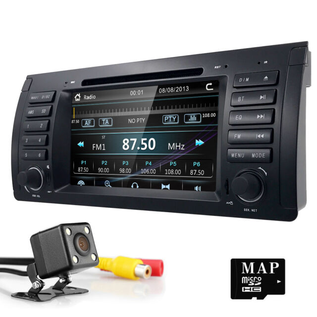 7 HD Touch Car DVD Player GPS Navigation Radio Stereo For BMW 5 Series E39