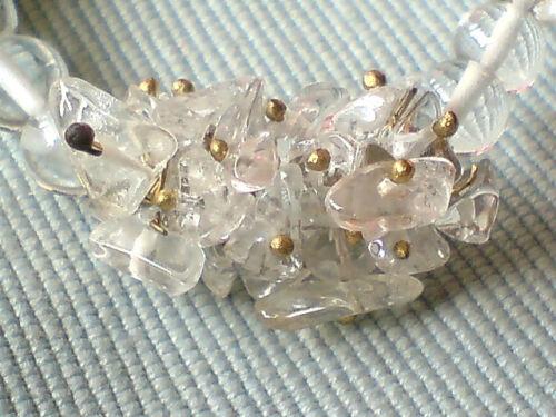 """Gemstone Cluster 18/"""" colliers avec quartz rose Hématite et Cristal Pierres £ 7.99 chaque"""