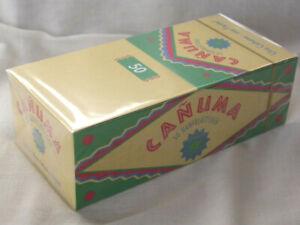 1-Box-mit-50-Heftchen-Canuma-Zigarettenpapier-Papers