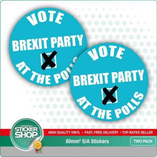 Vote Brexit Party Car Bumper Vinyl Decal Sticker Farage EU European *TWO PACK*