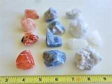 Lot of Mix Calcite, Red, White, Blue, Peach!