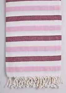 Turkish Towel Peshtemal Double Color Fouta Beach Bath Hammam Towel Pestemal