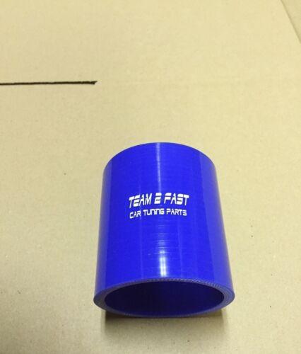 """TUBO In Silicone Connettore 63,5mm 2,5/"""" Blu Tubo dell/'aria di sovralimentazione appena 65mm 60mm 64"""