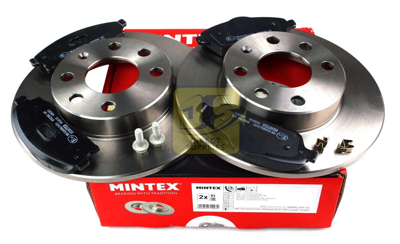 Nouveau Mintex Disques de frein AVANT ET PADS SET MDK0203 Gratuit Livraison Le Jour Suivant