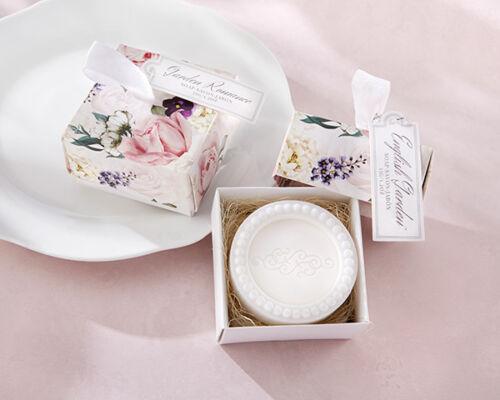 English Garden Tea Rose Spring Soap Bridal Wedding Favor Gift Boxed 25 50 75 96