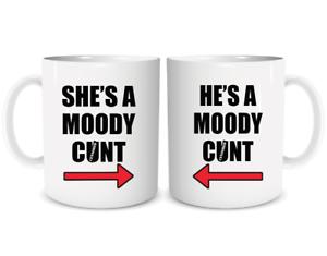 Funny Rude Couples Mug Set Coffee Mugs Cup His n Hers Boyfriend Girlfriend 1940