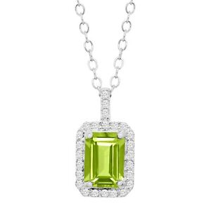 1-ct-Natural-Peridot-amp-Cubic-Zirconia-Pendant-in-Sterling-Silver