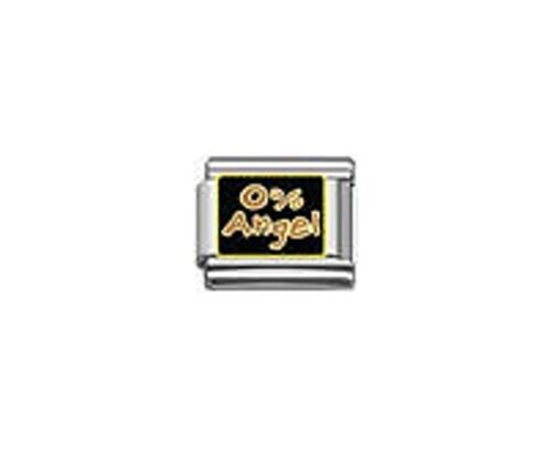 9mm Classic Size Italian Charms Charm E72  0/% Angel Fits Classic Size Bracelet