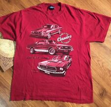 Classic Muscle Cars Of The 60s & 70s. Ford Mustang T Shirt Men's Size L