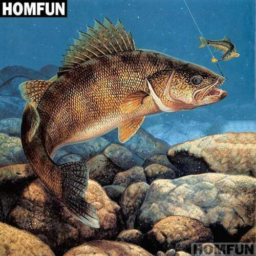5D Diamond Painting Fish on the Rock Bottom Kit