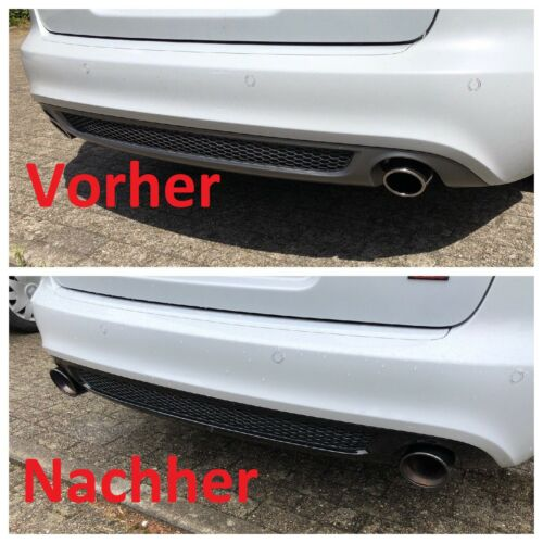 Audi A5 A6 A7   Endrohre aus Edelstahl in Chrome Auspuffblenden Sport Auspuff