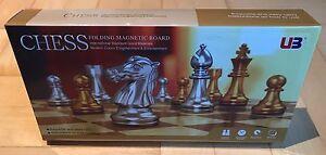 Schach-Magnetschach-Klappschach-Magnetfiguren-Gold-Silber