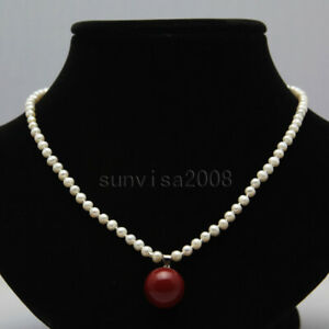 Real-4-5mm-natural-round-freshwater-cultured-white-pearl-necklace-pendant-17-034-8