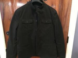 Men-s-Kenneth-Cole-Reaction-Field-Jacket-SZ-XL-Black-Mnimal-Wear