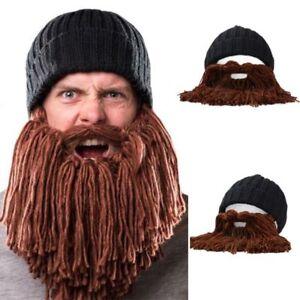 Männer Wolle Mütze Bart Gesichtsmaske Häkeln Ski Cosplay Vorschl