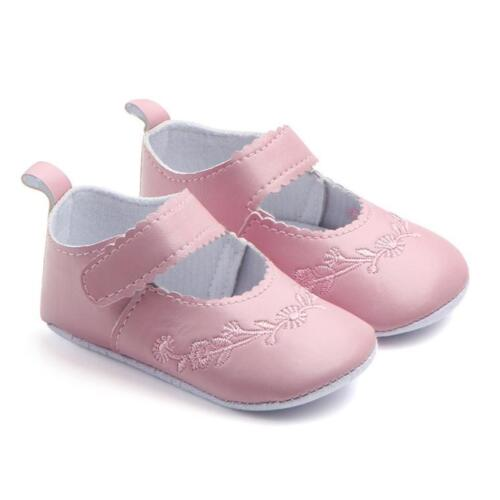 Toddler Baby Soft Sole Leather Crib Shoes Anti-slip Sneaker Prewalker Shoes kurt