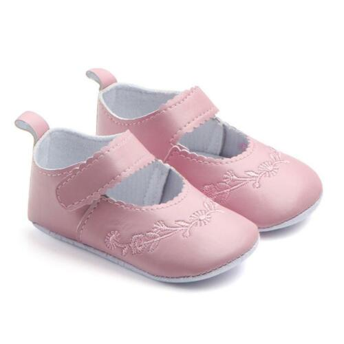 Toddler Baby Soft Sole Leather Crib Shoes Anti-slip Sneaker Prewalker Shoes kurt