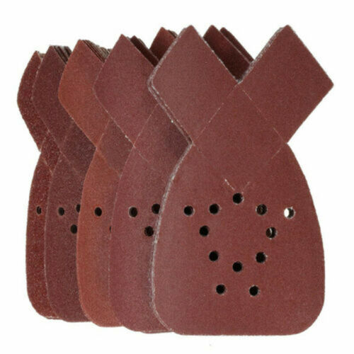 40,80,120,180,240 Grit Mouse Sanding Sheets Pads For Black /& Decker Sander 50pcs