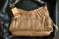 Oriano Tan Leather Shoulder Handbag