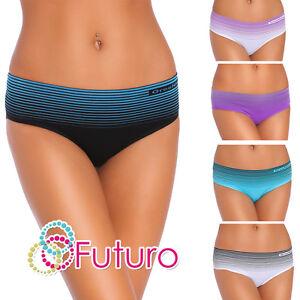 Mujer-Calzoncillos-estampado-de-rayas-Braguitas-Bikini-Ropa-Interior-Tallas-S