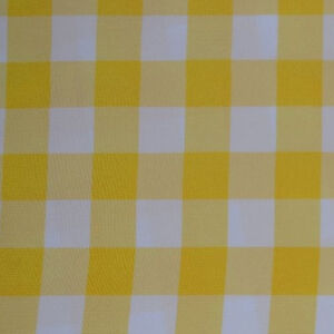Image Is Loading YELLOW AND WHITE CHECKERED TABLECLOTH 60 034 X