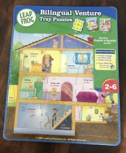 Leap-Frog-Bilingual-Venture-Tray-Puzzles-teaches-spanish-amp-english-New