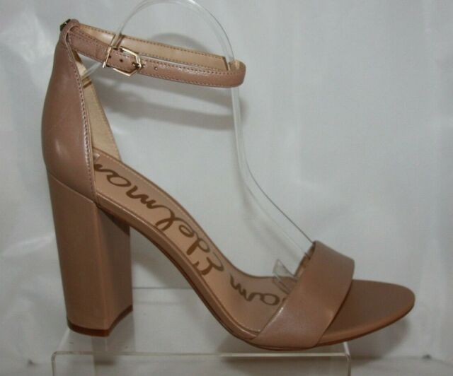 0b795871e817 Sam Edelman YARO Classic Nude Leather Sandals Womens HEELS Size 10.5 ...