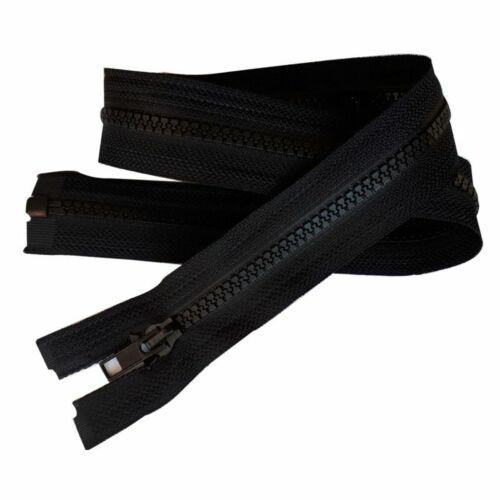 Fermeture Eclair Coloris Noir 75 cm Séparable Ouvrable maille 5 mm largeur 3 cm
