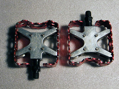 Old School Red Anodized 1//2 BMX Pedals NEW!