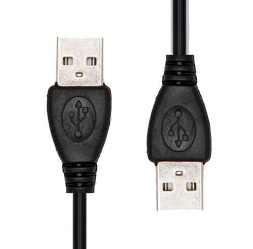 NEW High quality 480 Mbps 50cm USB 2.0 A MALE TO MALE EXTENSION CABLE CORD BLACK