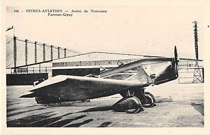 CPA-ISTRES-AVIATION-AVION-DE-TOURISME-FARMAN-GIPSY