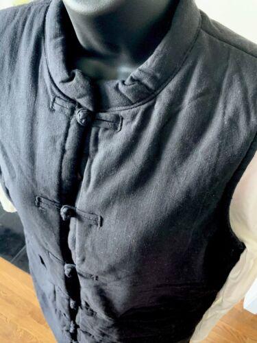 Boutons Deux Poches Noir Col Pour Avec Mandarin Femmes En Quilted Veste Et Avant 6 zSPqxgg