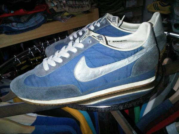 1980's Vintage NIKE Oceania Sneakers Running shoes bluee US10 28cm Rare