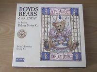 Boyds Bears & Friends 1st Edition Rubber Stamp Kit Bailey's Birthday By Uptown